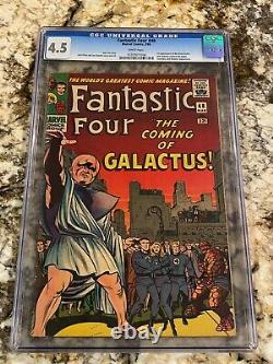Fantastic Four #48 Cgc 4.5 Rare White Pages 1st Silver Surfer Galactus Huge Key
