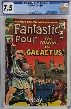 Fantastic Four #48 Cgc 7.5 1st Silver Surfer Galactus White Pages Never Pressed
