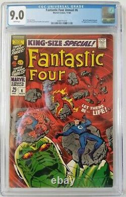 Fantastic Four Annual #6 CGC 9.0 White Pages! 1st Appearance Annihilus KEY BOOK