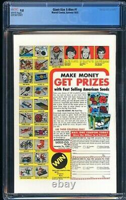 GIANT SIZE X-MEN 1 CGC 9.8 White Pages! 1ST STORM! Colossus & Nightcrawle
