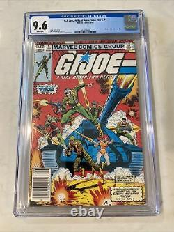 GI Joe #1 Marvel 1982 CGC 9.6 White Pages 1st Snake Eyes NEWSSTAND Not 9.8