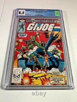 GI Joe A Real American Hero #1 CGC 8.5 White Pages 1982