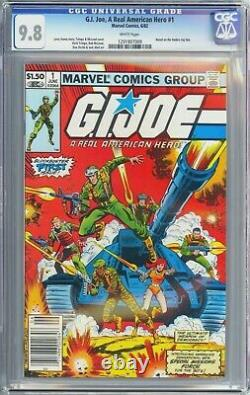 G. I. Joe, A Real American Hero #1 (1982) NEWSSTAND CGC 9.8 White Pages