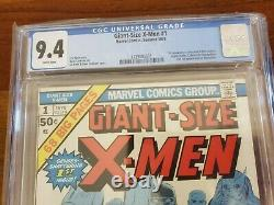 Giant Size X-Men #1 1975 1st Appearance New X-Men CGC 9.4 NM White Pages