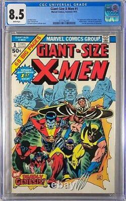 Giant Size X-men 1 CGC 8.5 1st Storm Nightcrawler Colossus WHITE PAGES