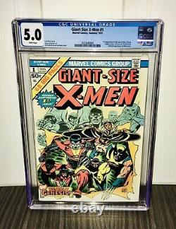 Giant Size X-men #1 Cgc 5.0 White Pages 2nd Appearance Of Wolverine See Photos