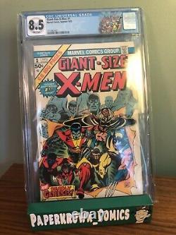 Giant Size X-men #1 Cgc 8.5 White Pages 1st New X-men Bronze Age Grail! New Slab
