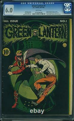 Green Lantern #1 CGC 6.0 DC 1941 White Pages! After All American #16! JLA E6 cm