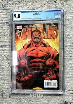 HULK #1 CGC 9.8 WHITE PAGES 2008 1st appearance RED HULK Marvel Comics