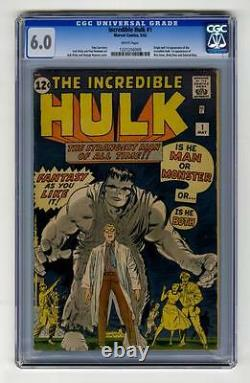 Hulk #1 CGC 6.0 Marvel 1962 Silver Age Holy Grail! RARE! WHITE pages! 129 cm bo