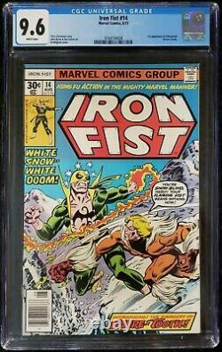 IRON FIST #14 CGC 9.6 1st APPEARANCE OF SABRETOOTH VICTOR CREED WHITE PAGES