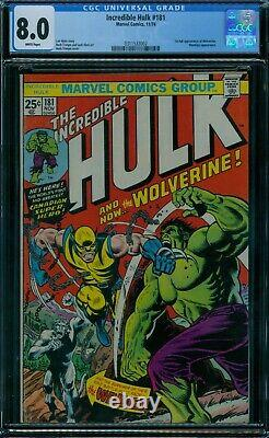 Incredible Hulk 181 CGC 8.0 1st Wolverine White Pages
