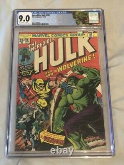 Incredible Hulk 181 CGC 9.0 Off White to White Pages