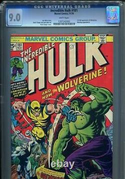 Incredible Hulk 181 CGC 9.0 WHITE PAGES 1st Appearance Wolverine