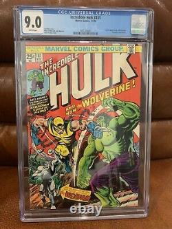 Incredible Hulk #181 CGC 9.0 WHITE PAGES Pristine