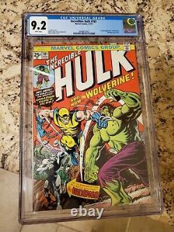 Incredible Hulk #181 CGC 9.2 White Pages 1st Wolverine DISNEY MARVEL MERGER