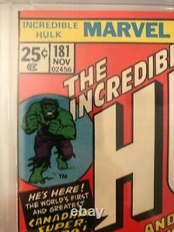 Incredible Hulk #181 CGC 9.6 White pages! 1st Wolverine! Holy Grail Key! X-Men