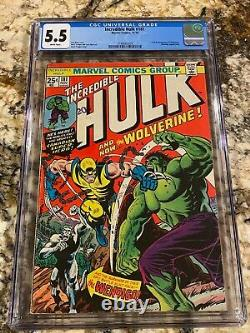 Incredible Hulk #181 Cgc 5.5 White Pages Unpressed 1st Wolverine Hot Invest Mcu