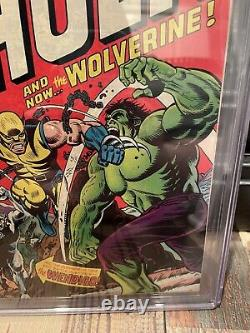 Incredible Hulk 181 Cgc 8.5 White Pages First Appearance 1st Wolverine Old Label