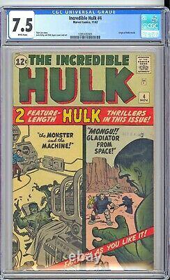Incredible Hulk #4 Cgc 7.5 Vf- White Pages! Super Sharp! Pretty Copy