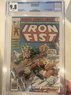 Iron Fist #14 (1977) CGC 9.8 White Pages 1st Appearance of Sabretooth