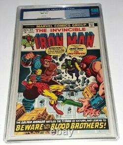 Iron Man 55 CGC 9.6 White Pages 1st Thanos AMAZING CENTERING