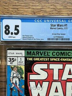 Marvel 1977 Star Wars #1 35 Cent Variant CGC 8.5 White Pages RARE Holy Grail