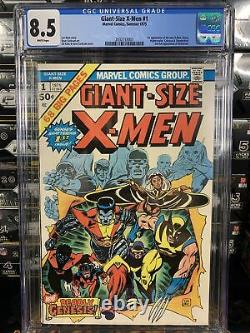 Marvel GIANT SIZE X-MEN #1 CGC 8.5 Bronze Age KEY 1975 Comic Book WHITE PAGES