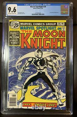 Marvel Spotlight #28 CGC 9.6 Off-White to White pages 1976 1st solo Moon Knight