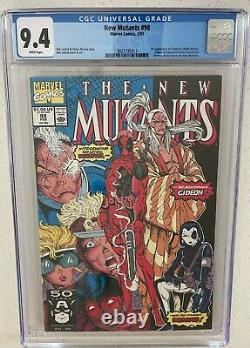 New Mutants 98 CGC 9.4 White Pages
