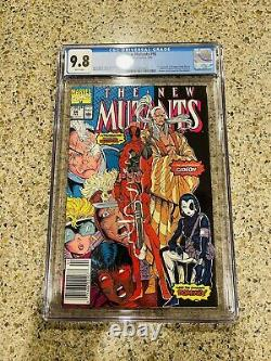 New Mutants 98 CGC 9.8 White Pages NEWSSTAND VARIANT 1st Appearance Deadpool