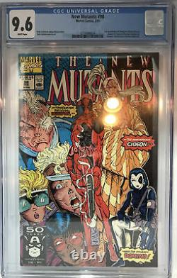 New Mutants 98 cgc 9.6 white pages 1st Appearance Deadpool marvel x-men