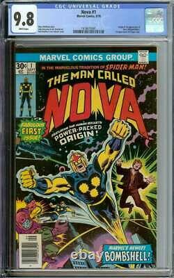 Nova #1 Cgc 9.8 White Pages // Origin/1st Appearance Of Nova