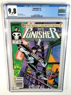 Punisher #1 Cgc 9.8 Newsstand White Pages Original Owner! 1987 Marvel