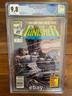 Punisher Limited Series 1 Newsstand CGC 9.8 White Pages Key Comic Book 1986