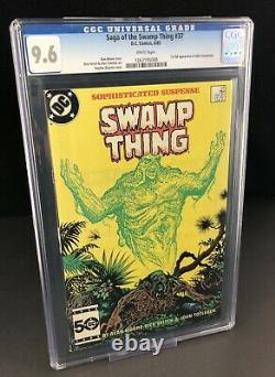 SAGA OF THE SWAMP THING #37 CGC 9.6 1ST JOHN CONSTANTINE White Pages Maybe 9.8