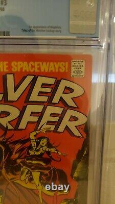 SILVER SURFER #3 CGC 8.5 Of W to White pages1st APP OF MEPHISTO 1968