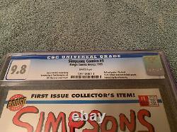 SIMPSONS COMICS #1 CGC 9.8 1993 Bongo, 1st Simpsons in comics. White Pages