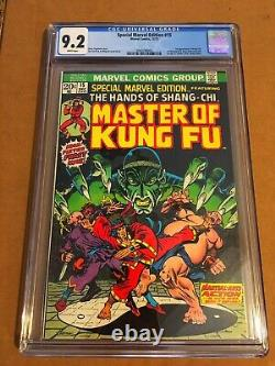 SPECIAL MARVEL EDITION 15 Master of Kung Fu 1st SHANG-CHI CGC 9.2 WHITE PAGES