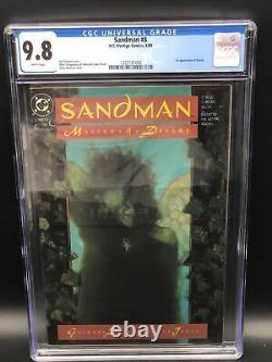 Sandman #8 CGC 9.8 NM/M Gaiman 1989 1st Death Dream White Pages