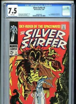 Silver Surfer #3 CGC 7.5 WHITE Pages 1st Mephisto