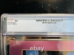 Spider-Man vs Wolverine 1 CGC 9.8 White Pages (1st app of Charlemagne)