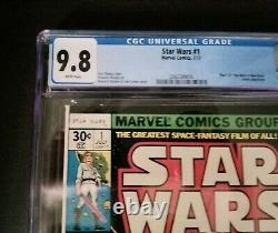 Star Wars 1 CGC 9.8 1977, White Pages, Newsstand, Grail / Key