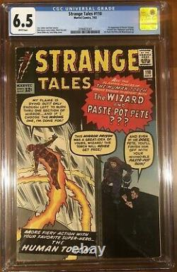 Strange Tales #110 CGC 6.5 1963 1st Doctor Strange! WHITE pages! L9 201 cm clean
