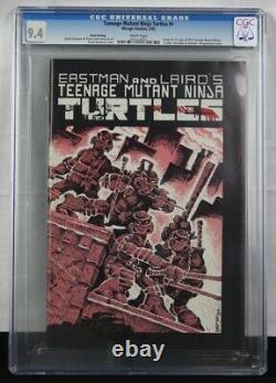 TEENAGE MUTANT NINJA TURTLES #1 CGC 9.4 1st Edition 3rd Print White Pages! TMNT