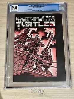 Teenage Mutant Ninja Turtles #1 CGC 9.0 2nd print WHITE PAGES! Mirage 1984 TMNT