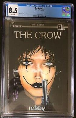 The Crow 1 CGC 8.5. White Pages! 1989. James OBarr. 1st print