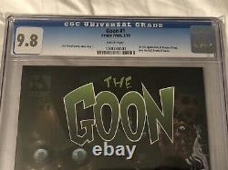 The Goon #1 CGC 9.8 WHITE pages, Avatar Press (1999) Eric Powell Zombie Priest