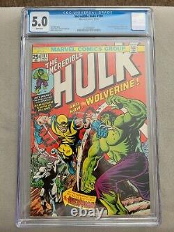The Incredible Hulk #181 1st App of Wolverine CGC 5.0 WHITE PAGES