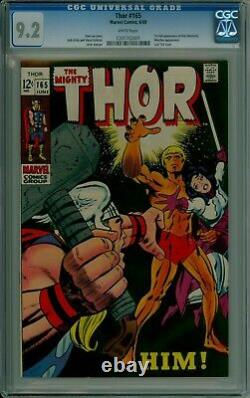 Thor #165 CGC 9.2 NM- white pages 1st app. Warlock (Him) Marvel 1201702001